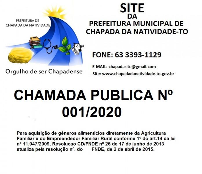 CHAMADA PUBLICA Nº 001/2020