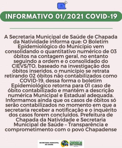 Nota de Esclarecimento da Prefeitura Municipal de Chapada da Natividade-To-Saude