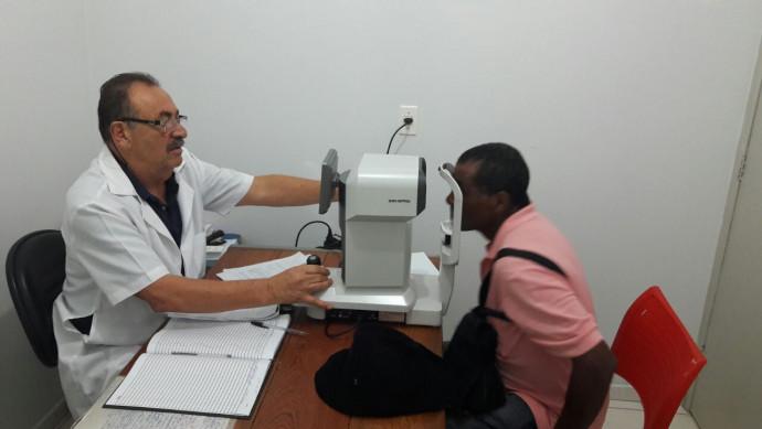 A Secretaria de Saúde, em parceria, realizou exames e consultas oftalmológicas, gratuitas.