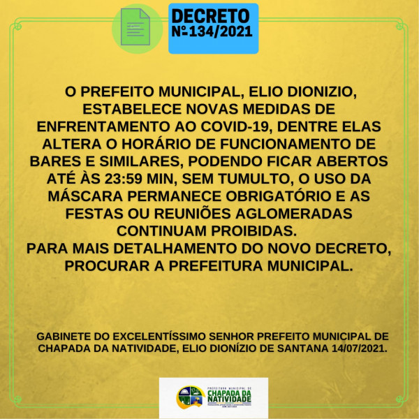 NOVAS MEDIDAS DE ENFENTAMENTO AO COVID-19